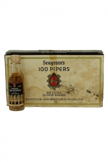 100 Pipers Seagram's de luxe Scotch Whisky Bot 60/70's 10x5cl 40% very old Miniature