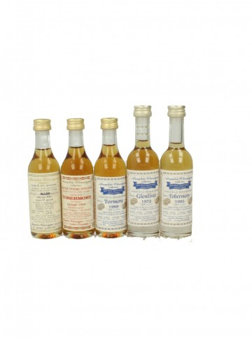 ALAMBIC CLASSIQUE 5CL VERY VERY COLLECTION MINIATURES  11 BOTTLES GLENLIVET-ALLOA-GLEN GARIOCH-TORMORE -CLYNELISH .....