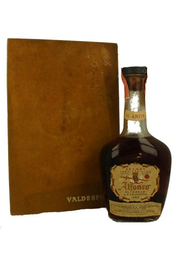 ALFONSO EL SABIO Brandy 15yo BOTTLED IN THE 60'S /70'S 75cl 43% Valdespino