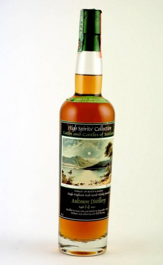 AULTMORE 14yo 1989 2003 70cl 46% High Spirits Lochs and Castles
