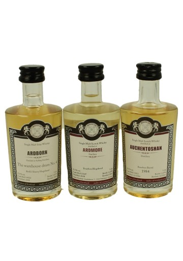 AYRESHIRE-ABERLOUR-ARDBORN-ARDMORE-AUCHENTOSHAN  miniature 1984-1990-1992-1998-2008 5x 5cl  Malts of Scotland