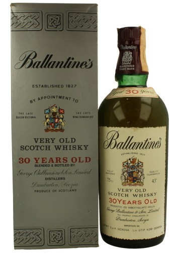BALLANTINE'S 30yo - Bot.70's 75cl 43% - Blended distilled in the 40's