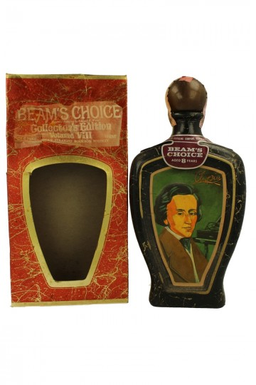 BEAM CHOICE 8 years old bot 60/70's 4/5 Quart 90 proof CERAMIC DECANTER Collector Edition Chopin