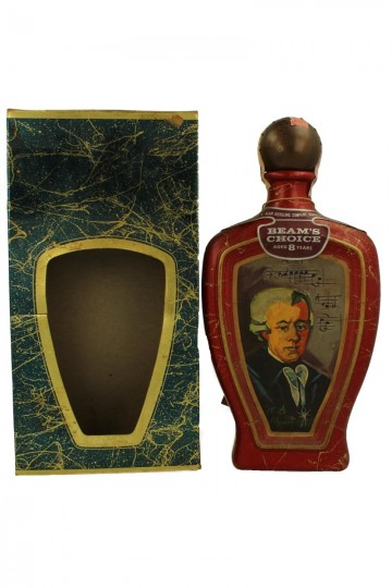 BEAM CHOICE 8 years old bot 60/70's 4/5 Quart 90 proof CERAMIC DECANTER Collector Edition Mozart