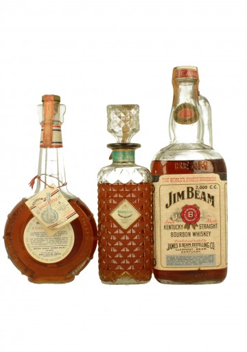 BOURBONS & BLENDS Mix of 33 Bottles 75cl Bot.70's