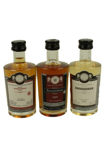 BUNNAHABHAIN miniature 1997-2005-2005 3x 5cl  Malts of Scotland Cask 17027-13061-3258