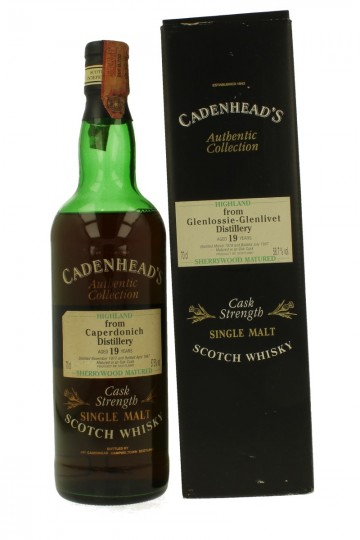 CAPERDONICH 19yo 1977 1997 70cl 57.5% Cadenhead's -Authentic Collection Sherrywood Matured