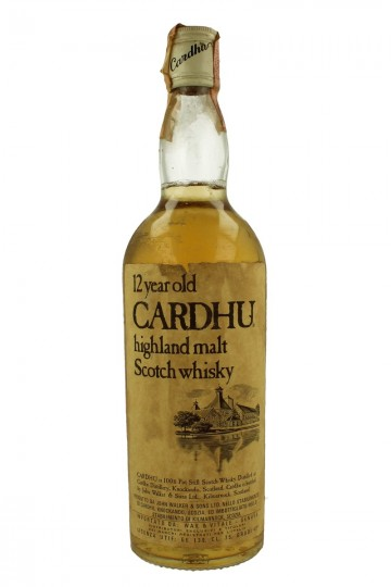 CARDHU 12yo Bot. late 70's 75cl 43% OB.-Bad Label