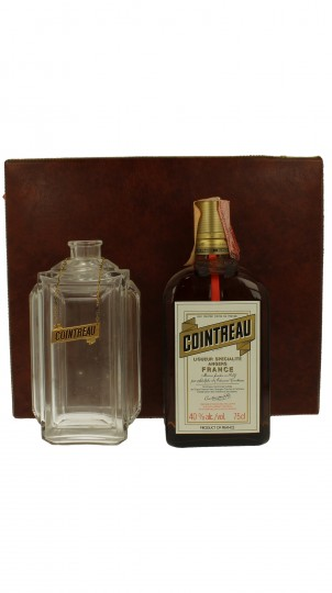 COINTREAU Bot.1980's 75cl 40% with Baccarat Crystal