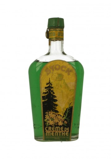 CREME DE MENTHE  STOCK 75CL 32% BOTTLED IN THE 50'S