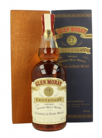 GLEN MORAY Centenary Bot.1997 70cl 40% OB - Port Wood finish
