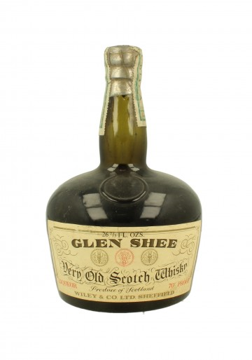GLEN SHEE Bot.around 1900 26-2/3 Fl.Ozs 70 PROOF Wiley & Co.