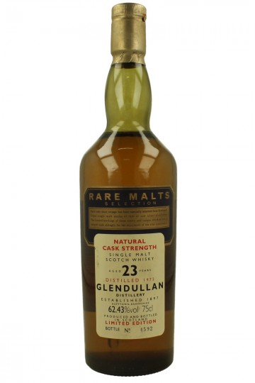 GLENDULLAN 23yo 1972 70cl 62.43% RARE MALTS SELECTION NO Box