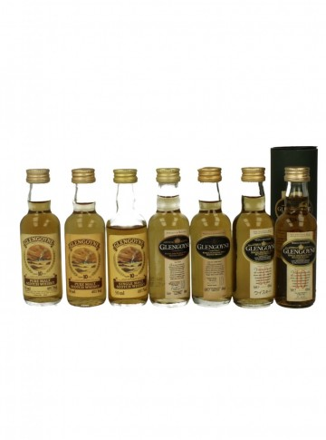 GLENGOYNE  5CL 7 RARE DIFFERENT MINIATURES 10 YO
