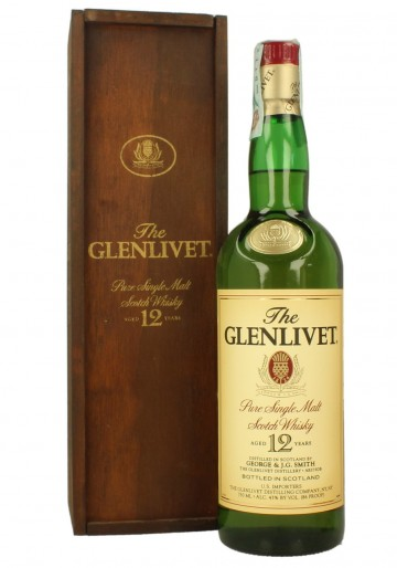 GLENLIVET  12yo   Bot.80/90's 75cl  86°proof OB  - USA import