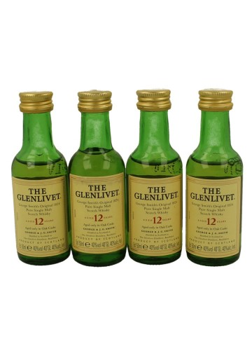 GLENLIVET Pure Single Malt   miniature 12yo 8x 5cl  40% OB