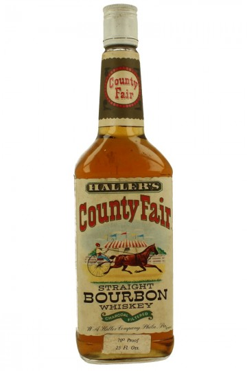 Haller S County Fair Straight Bourbon Whiskey Bot 60 70 S