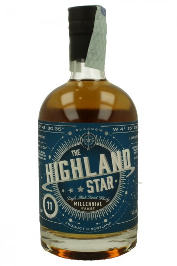 HIGHLAND STAR 11yo 70cl 50% North Star - Bottled from one single refill sherry butt