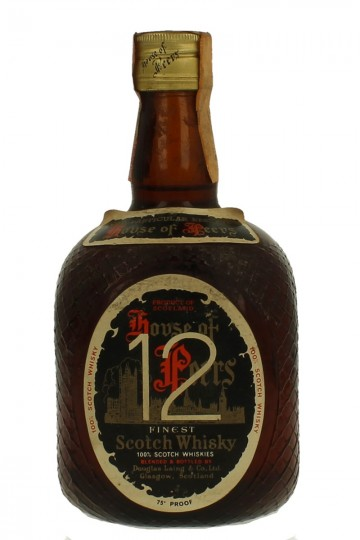 HOUSE OF PEERS 12 years old BOTTLED IN THE 60/70'S 75 CL 75 PROOF DOUGLAS LAING