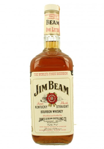 JIM BEAM'S ONE LITER  100CL 43% OLD BOTTLE