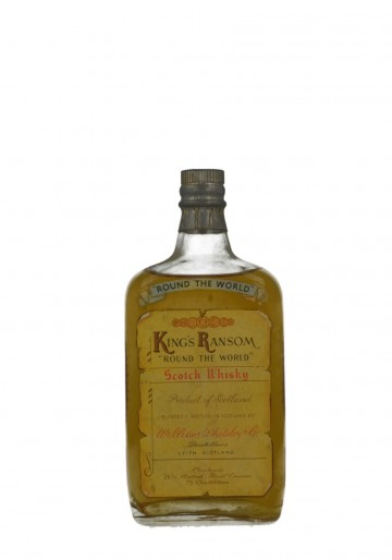 KING RAMSON'S EDRADOUR WHITELEY'S FLAT SHAPE VERY RARE BOTTLE