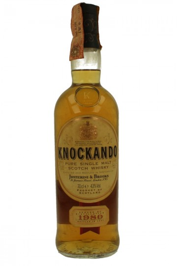 KNOCKANDO 12 years old 1980 1995 70cl 43% OB-