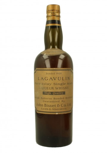 LAGAVULIN JOHN BISSET 1909 WE DO NOT GUARANTEE THE BOTTLE AUTHENTICITY 26 2/3