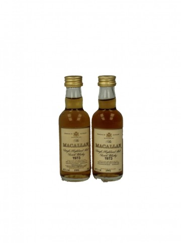 MACALLAN 18YO 1973 1991 5CL 43% 2 RARE MINIATURES