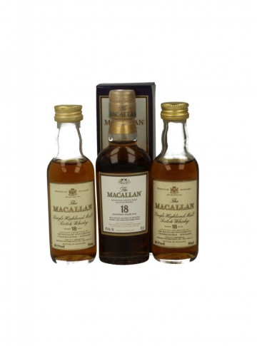 MACALLAN 18YO 5CL 3 VERY RARE MINIATURES