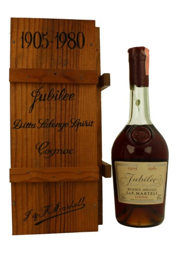 MARTELL COGNAC CORDON BLUE 1905-1980 Jubilee Bot.1980's 70cl 40% Bottle propriety of private collector for sale