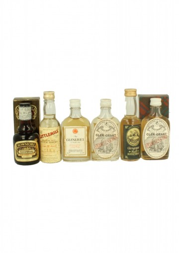 SET OF 6 OLD WHISKY MINIUATURES 5 CL