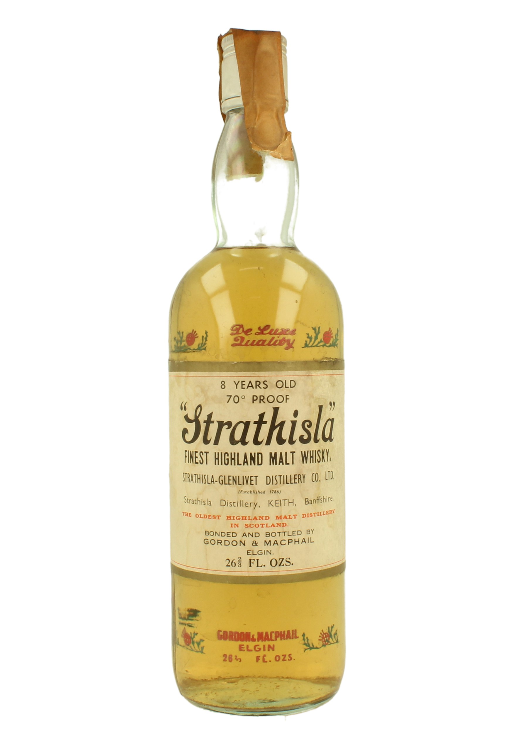 Strathisla 8yo Bot 70 S 26 2 3 Fl Ozs 70 Proof Gordon Macphail Thistle Bottle Products Whisky Antique Whisky Spirits