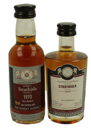STRATHISLA  miniature 1970-1997 2x 5cl  Malts of Scotland Cask WHISKYAGENCY-16005