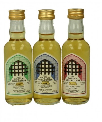 THE CASTLE COLLECTION 5CL 3 VERY RARE MINIATURES GLEN TURRET-GLENALLACCHIE-ALLT A BHAINNE