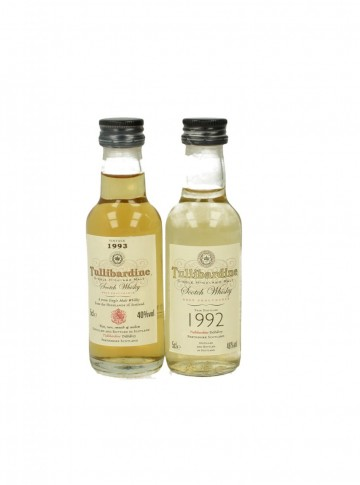 TULLIBARDINE 5CL 2 VERY RARE MINIATURES  1992-1993