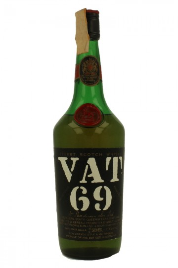 VAT 69 Finest Scotch Whisky Bot. in the  60'S /70's 75cl 43%