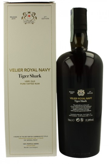 VELIER ROYAL NAVY TIGER SHARK avg 14yo 2019 Release 2nd Edition 70cl 57,18% Velier Very old pure vatted rum