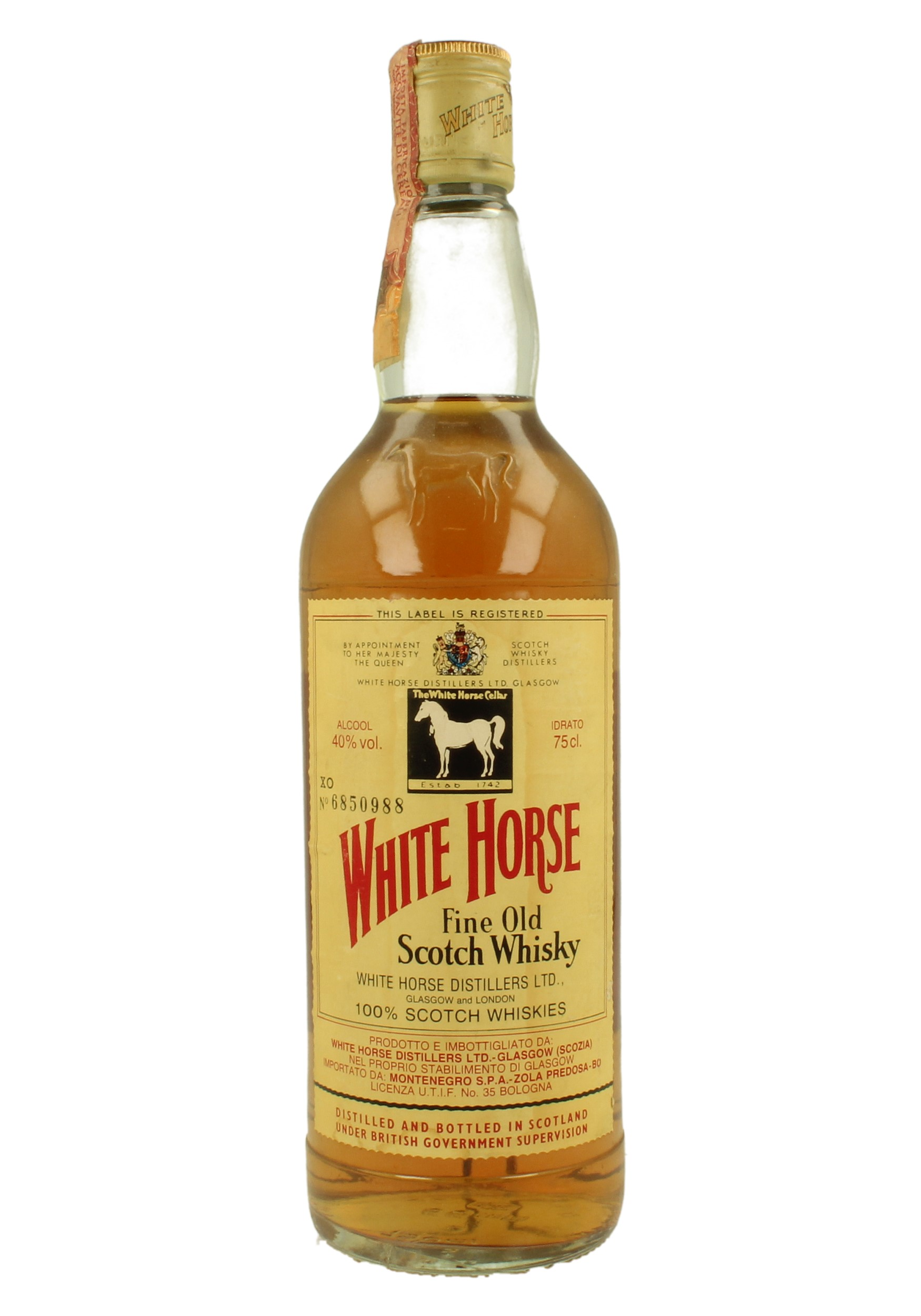White Horse Bot 80 S 75cl 40 Blended Montenegro Import Products Whisky Antique Whisky Spirits